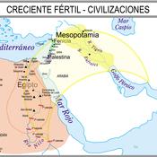 Mapa Histórico creciente fértil y civilizaciones