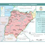 Mapa político de la provincia de Corrientes
