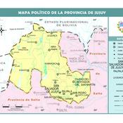 Mapa político de Jujuy
