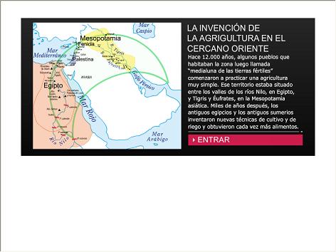Screenshot de Infografía #20019 - La invención de la agricultura en el Cercano Oriente