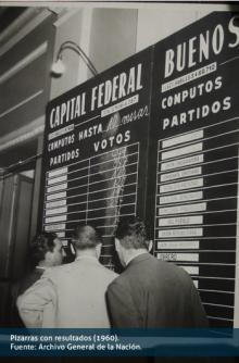 Pizarras con resultados (1960)