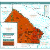 Mapa climático del Chaco