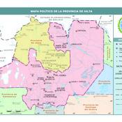 Mapa político de la provincia de Salta