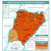 Mapa climático de Corrientes