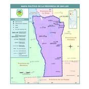 Mapa político de la provincia de San Luis