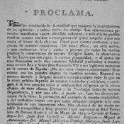 Proclama de la Junta Provisional Gubernativa