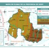 Mapa climático de Jujuy