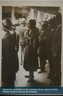 Siguiendo resultados en las carteleras de los diarios (1931)