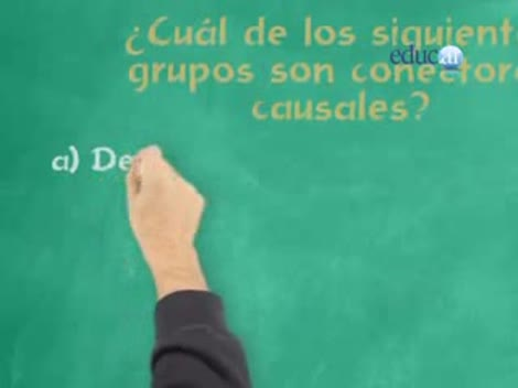 Screenshot 2/3 de Video #40526 - Conectores causales