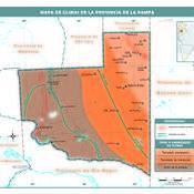 Mapa climático de La Pampa
