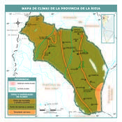 Mapa climático de La Rioja
