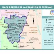 Mapa político de la provincia de Tucumán