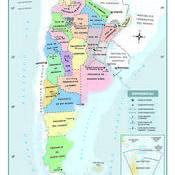 Mapa político de la Argentina