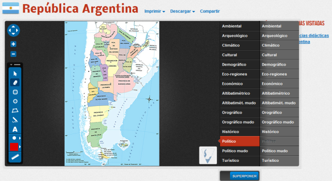 Mapoteca mapa Argentina