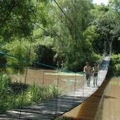 Puente colgante en parque nacional Chaco