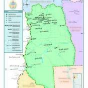 Mapa político de la provincia de Mendoza