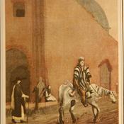 Buenos Aires, mendigo a caballo. Autor Vidal