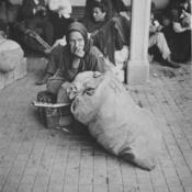 Anciana inmigrante