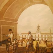 El Cabildo y la Plaza. Autor Vidal
