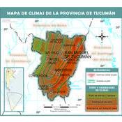 Mapa climático de Tucumán