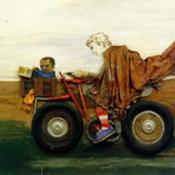 Juanito con la moto, 1972