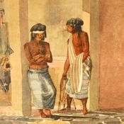 Indios pampas. Autor Vidal