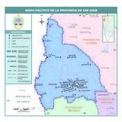 Mapa político de la provincia de San Juan