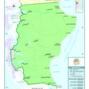 Mapa político de la provincia de Santa Cruz