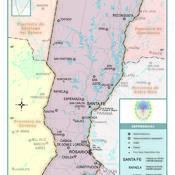 Mapa político de la provincia de Santa Fe
