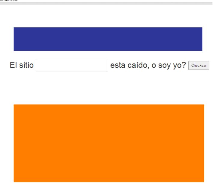 Captura de pantalla del sitio web «SoyYoOEstáCaído». En color.