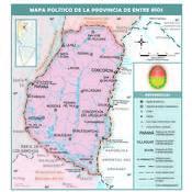 Mapa político de la provincia de Entre Ríos