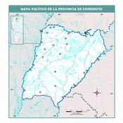 Mapa mudo político de Corrientes