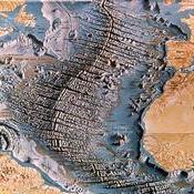 Mapa barométrico del Océano Atlántico