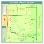 Mapa físico de La Pampa