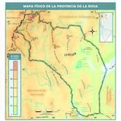 Mapa físico de La Rioja