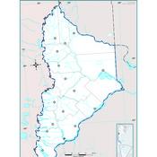 Mapa mudo político de Neuquén