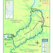 Mapa físico de Misiones