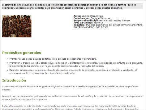 Screenshot de Secuencia #71029 - Pueblos originarios que habitan en Argentina