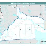Mapa mudo político de Río Negro