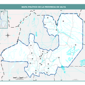 Mapa mudo político de Salta