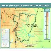 Mapa físico de Tucumán