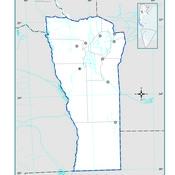 Mapa mudo político de San Luis