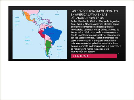 Screenshot de Infografía #20092 - Las democracias neoliberales en América Latina en las décadas de 1980 y 1990