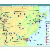 Mapa económico de Chubut