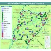 Mapa económico de la provincia de Corrientes