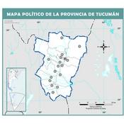 Mapa mudo político de Tucumán