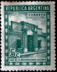 Estampilla Casita de Tucumán