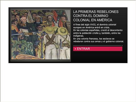 Screenshot de Infografía #20088 - Las primeras rebeliones contra el dominio colonial en América