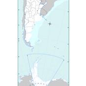 Mapa mudo político de la Argentina