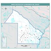 Mapa mudo político del Chaco